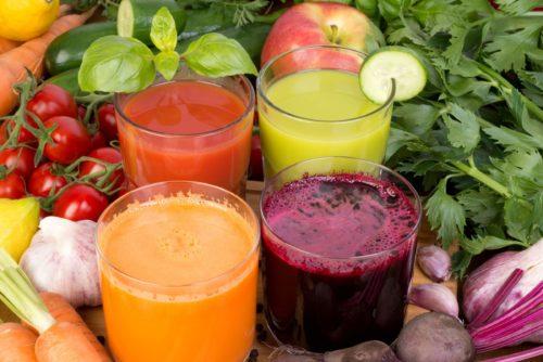 свежие растительные соки очищают организм